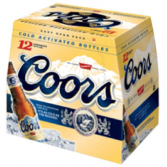 Coors 12 Pack Bottle