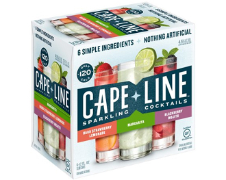 Cape Line Margarita,Strawberry Lemonade,Blackberry Variety 6 Pk